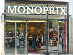 monoprix clothes and food store on the champs elys es. Black Bedroom Furniture Sets. Home Design Ideas