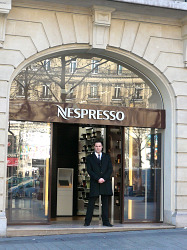 nespresso store on the champs elysees paris. Black Bedroom Furniture Sets. Home Design Ideas